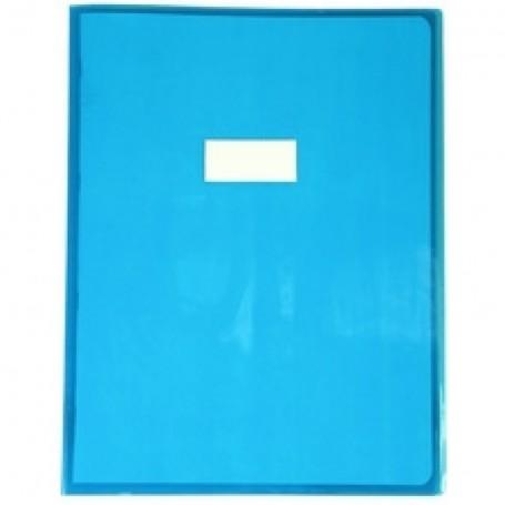 Protège-cahier Calligraphe transparent Bleu maxi formats 24x32cm