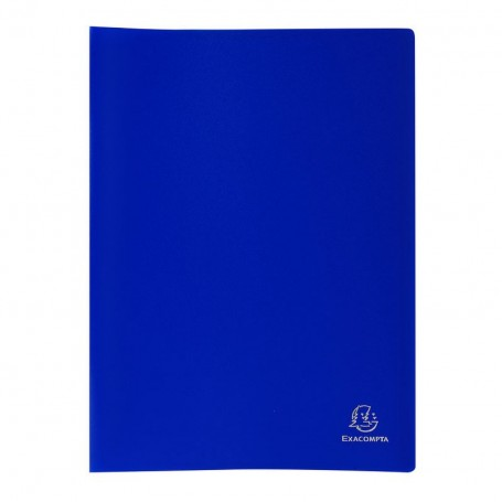 Protège-documents A4 Exacompta Memphis 100 vues 50 pochettes Bleu