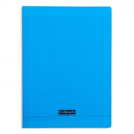 Cahier Calligraphe 21X29.7 A4 96p 90g grands carreaux  Séyès couverture Polypr Bleu