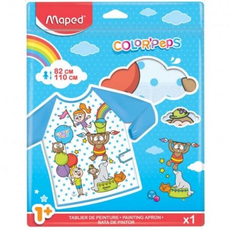 Tablier de peinture enfants Maped Color'Peps  pour age 18 mois à 5 ans taille 82-110cm