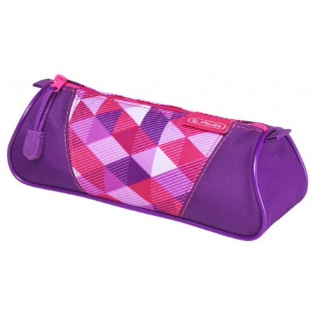 Trousse trangulaire Herlitz Pink Cubes