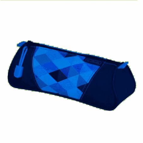 Trousse trangulaire Herlitz Blue Cubes