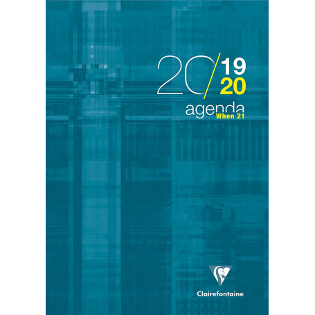 "Agenda scolaire Clairefontaine ""When 21"" 2019/2020 en A4"