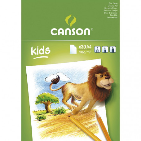Bloc à dessin Canson A4 90g 30 feuilles