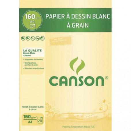Bloc à dessin Canson A4 160g 20 feuilles