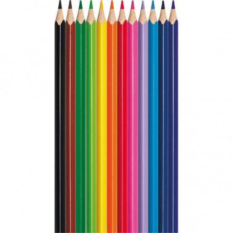 Etui de 12 Crayons de couleur Pincello