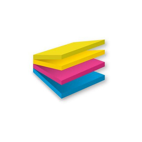Notes adhésives Post-it 76 x 76 mm Assortiment - 4 Unités de 100 Feuilles