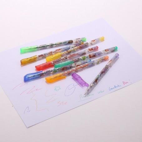 Lot de 8 stylos Gel brillants - Prix éco.