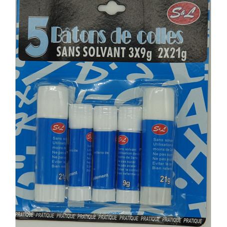 Lot de 5 tubes de colle 3x9g et 2x21g