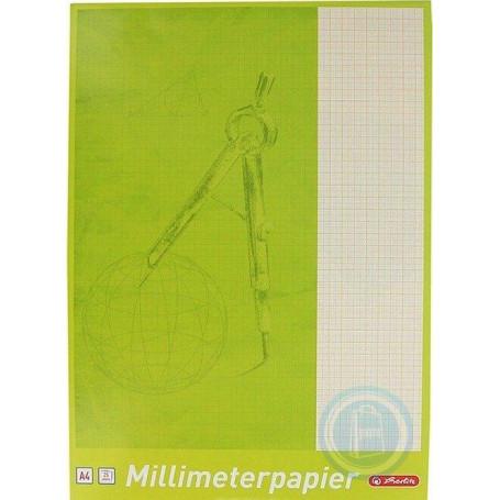 Papier millimétré A4 Herlitz - Pochette de 25 feuilles