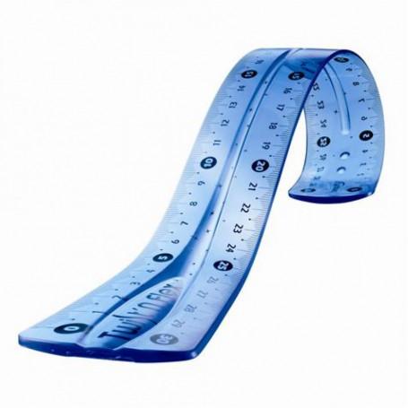 Règle plate Maped Twist'n Flex 30cm incassable flexible Bleu