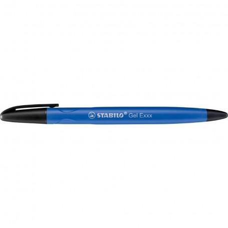 Stylo roller Stabilo gel Exxx pointe Moyenne encre bleu