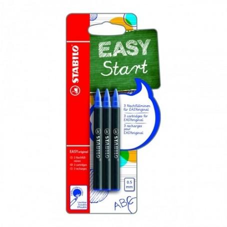 Recharge stylo roller Stabilo EASYoriginal encre Bleu
