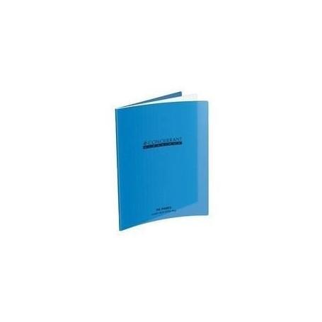 Cahier d'écriture 17X22 32p 90g grands carreaux réglure 3mm interligne 10 mm Conquerant à couverture plastique