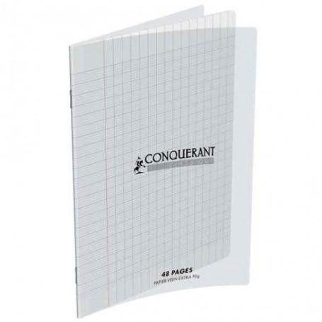 Cahier Conquerant 24X32 48p 90g  petits carreaux  5x5 à couverture plastique