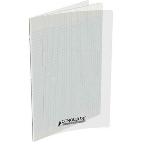 Cahier Conquerant 24X32 96p 90g  petits carreaux  5x5 à couverture plastique