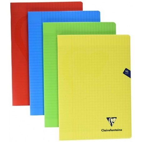 Cahier Clairefontaine Mimesys 17X22 144p 90g grands carreaux 5x5