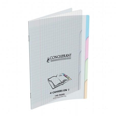 Cahier 4 index Calligraphe 24X32 4x35p 90g grands carreaux Séyès