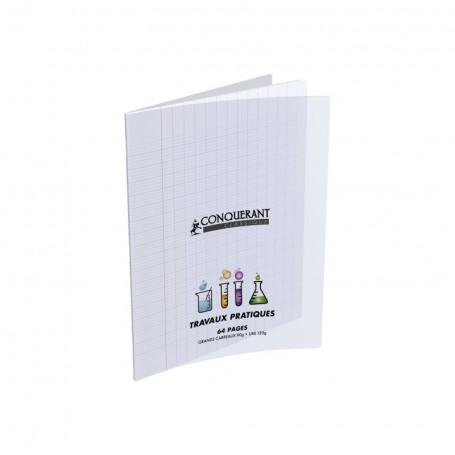 Cahier Travaux Pratique Conquerant 17X22 64p 90g  grands carreaux Séyès