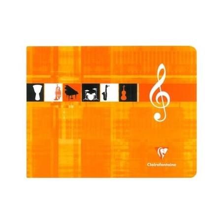 Cahier de Musique Clairefontaine 17X22 48p 90g à l'italienne