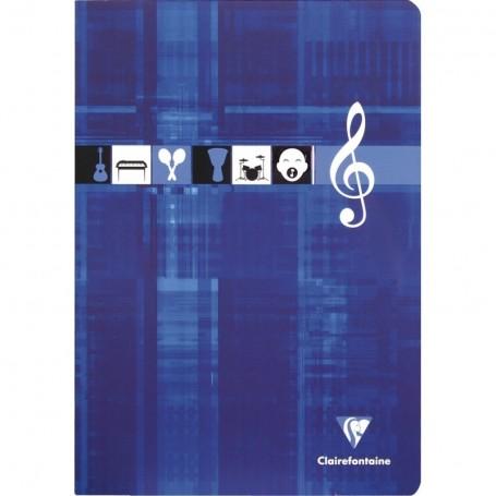 Cahier de Musique et Chant Clairefontaine 17X22 2x28p 90g