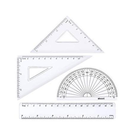 Kit de géometrie Wonday 4 piéces transparent