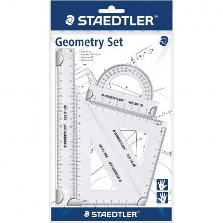 Kit de géometrie Staedtler 4 piéces transparent