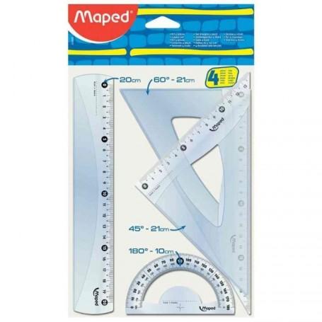 Kit de géometrie Maped Start242 4 piéces transparent