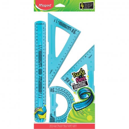 Kit de géometrie Maped Twist'n Flex 4 piéces