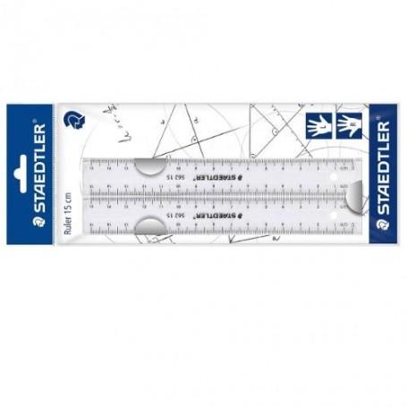 Kit de règles plates Staedtler 2X15cm en plastique transparent