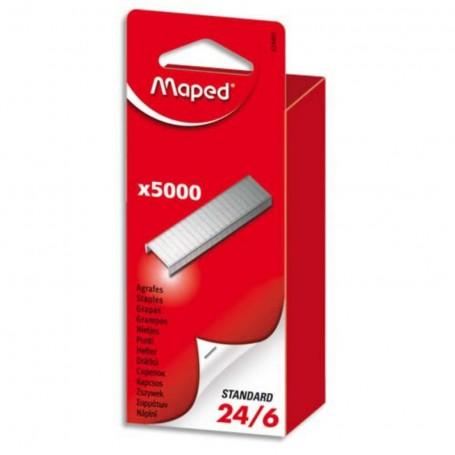 Agrafes Maped N24/6 Uni  zingué 5000 pièces