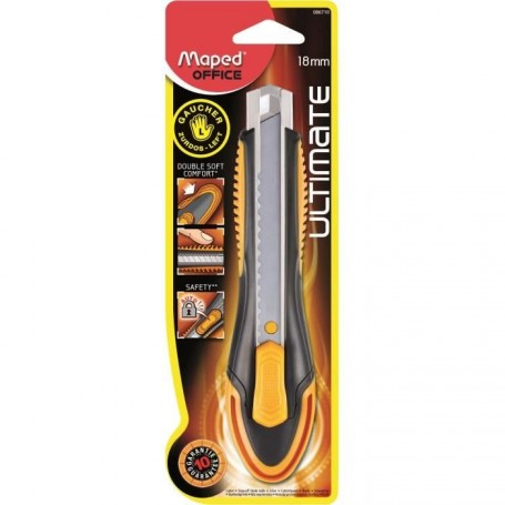 Cutter Maped Ultimate lamme 18mm pour gauchers
