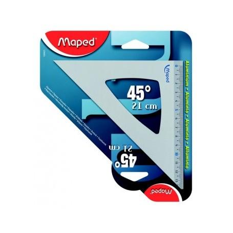 Équerre Maped 45 degrès 21cm en aluminium