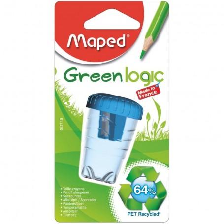 Taille-crayons simple Maped Greenlogic avec réservoir en PET recyclé