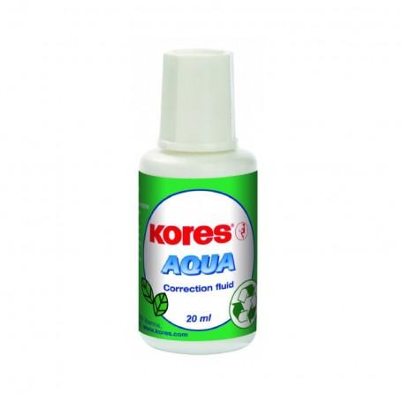 Correcteur liquide Kores Aquoi 20 ml avec une éponge