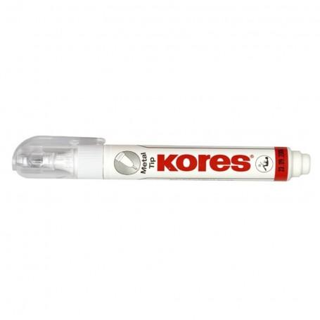 Stylo correcteur liquide Kores Metal Tip 10ml