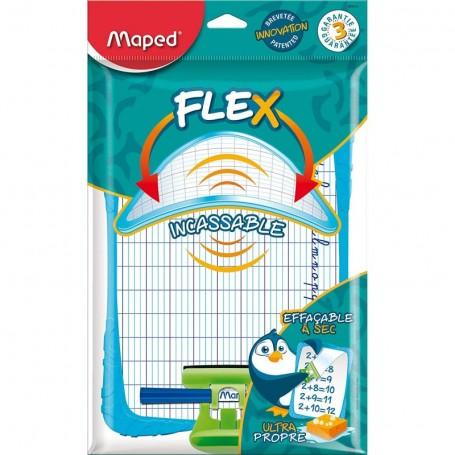 Ardoise blanche effaçable Flex Maped incassable avec accessoires