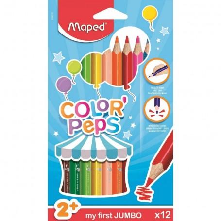 Etui de 12 crayons de couleur tringulaire Maped Color'peps pour les tout-petits mine 4.7mm