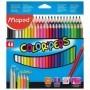Etui de 48 crayons de couleur tringulaire Maped Color'peps mine 2.9mm