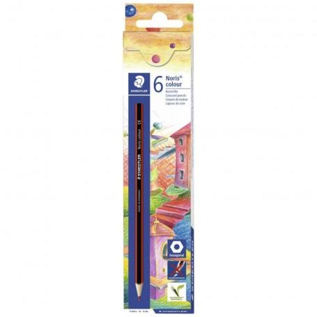 Etui de 6 crayons de couleur hexagonal Staedtler mine 3mm