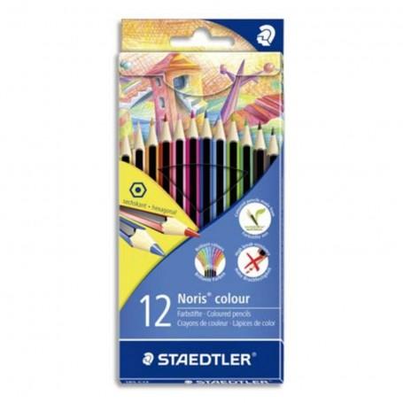 Etui de 12 crayons de couleur hexagonal Staedtler mine 3mm