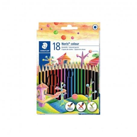 Etui de 18 crayons de couleur hexagonal Staedtler mine 3mm