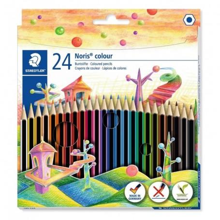 Etui de 24 crayons de couleur hexagonal Staedtler mine 3mm