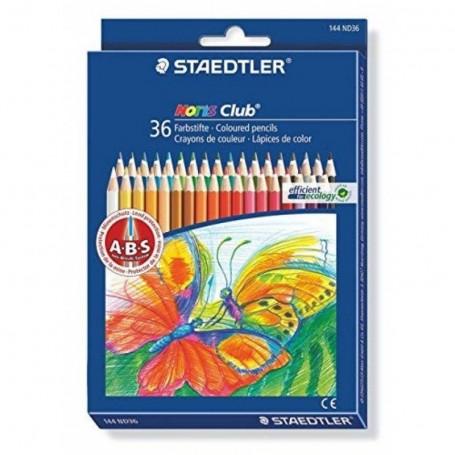 Etui de 36 crayons de couleur hexagonal Staedtler mine 3mm