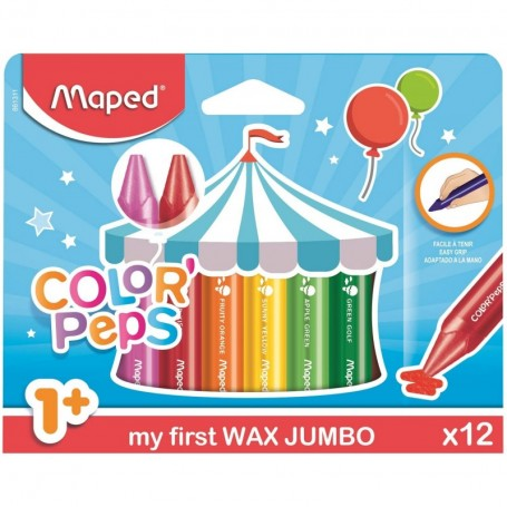 Etui de 12 feutre Maped Color'Pesps Jumbo pour les tout-petits tracé 5mm