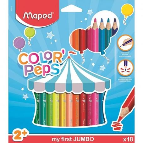Etui de 18 feutre Maped Color'Pesps Jumbo pour les tout-petits tracé 5mm