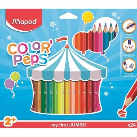 Etui de 24 feutre Maped Color'Pesps Jumbo pour les tout-petits tracé 5mm