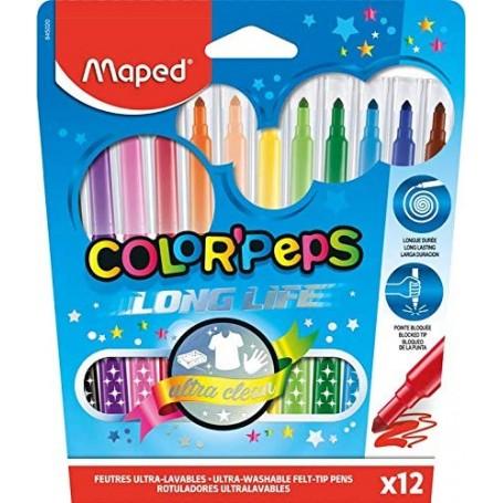 Etui de 12 feutre Maped Color'Pesps tracé 1.5mm
