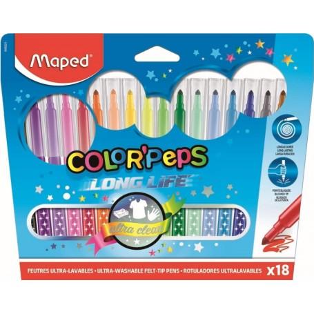 Etui de 18 feutre Maped Color'Pesps tracé 1.5mm