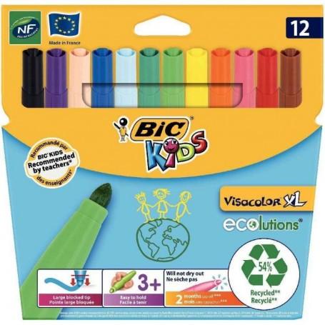 Etui de 12 feutres Bic Kids Visacolor tracé 1.3mm